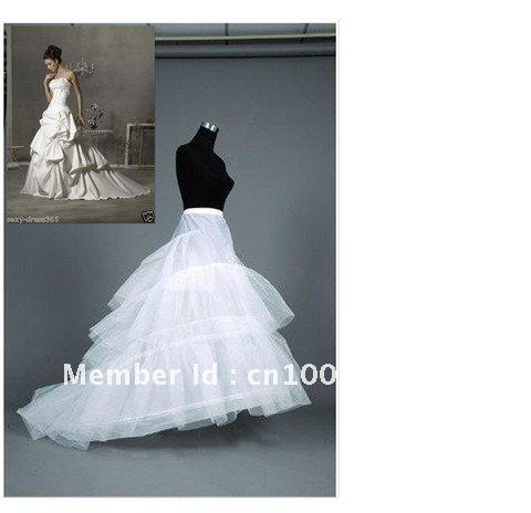 Venda por atacado - Mais novo lindo 2-hoop 3T Train Petticoat Bridal Acessórios Vestidos de casamento venda quente