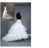 Wholesale Petticoats Train - Wholesale - Newest Gorgeous 2-hoop 3T Train Petticoat Bridal Accessories Wedding Gowns Hot sale