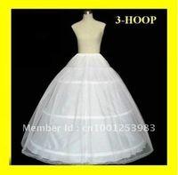 Wholesale full ball gowns - Hot sale High Quality 3 HOOP Ball Gown BONE FULL CRINOLINE PETTICOAT WEDDING SKIRT SLIP NEW H-03