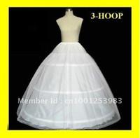 vestido de bola enaguas para la venta al por mayor-Venta caliente de alta calidad 3 HOOP vestido de bola BONE FULL CRINOLINE PETTICOAT BODA BODA SLIP NUEVO H-03