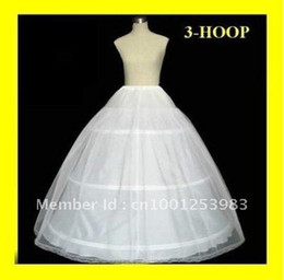 Wholesale Hoop Slip Bone - Hot sale 50% off 3 HOOP Ball Gown BONE FULL CRINOLINE PETTICOAT WEDDING SKIRT SLIP NEW H-03