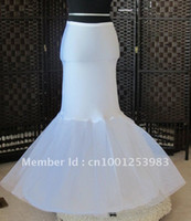 Wholesale Mermaid Petticoat Slip - Best Selling 1 Hoop Fishtail Mermaid Cocktail Wedding Petticoat Underskirts Crinoline Slip Mermaid Trumpet petticoat crinoline