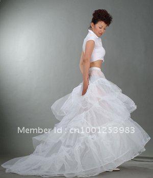 Ücretsiz Kargo Yeni A-line 2 Hoop Şapel Tren Gelin Elbise Crinoline Petticoat Tren Petticoat Sıcak Satış 50% off