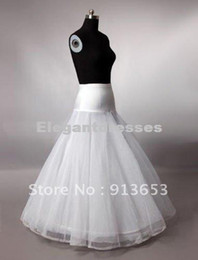 Wholesale Free shipping A-Line White Wedding Petticoat Bridal Slip Underskirt Crinoline Bridal Accessories Petticoat Crinoline