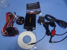 Wholesale Gps Tracker Car Sd Card - Vehicle Car GPS Tracker tk103B with Remote Control GSM Alarm SD Card Slot Anti-theft car alarm system