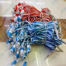 Wholesale Noodle Earphones - 3.5mm In-Ear Earphone Noodle Line Headphone for MP3 MP4 Tablet PC factory price 500pcs lot