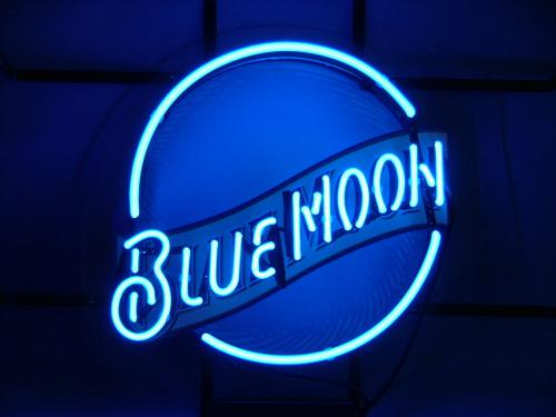 2019 BLUE MOON BEER BAR PUB NEON LIGHT SIGN From Miss_y