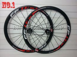 Wholesale road wheels disc - 2015 2016 Disc hub brake ffwd f4r F4D FCC carbon fiber bicycle wheels 700C 38mm Clincher Tubular rim bike wheelset