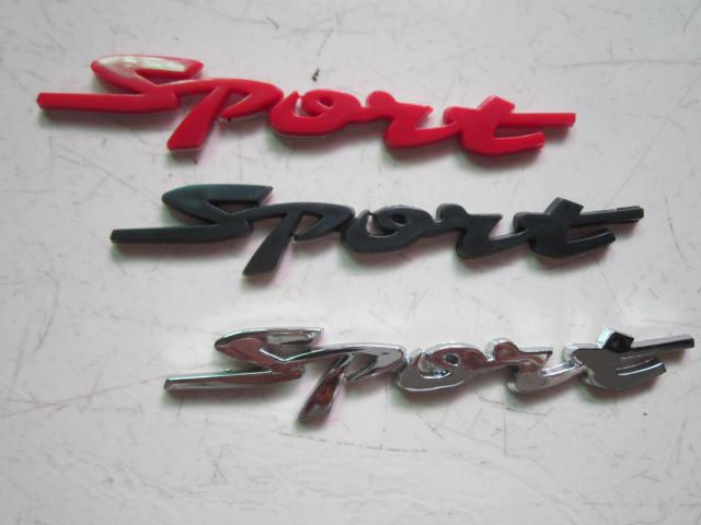 3D Plastic Sport emblems badges personalized stickers decals for car car accessories