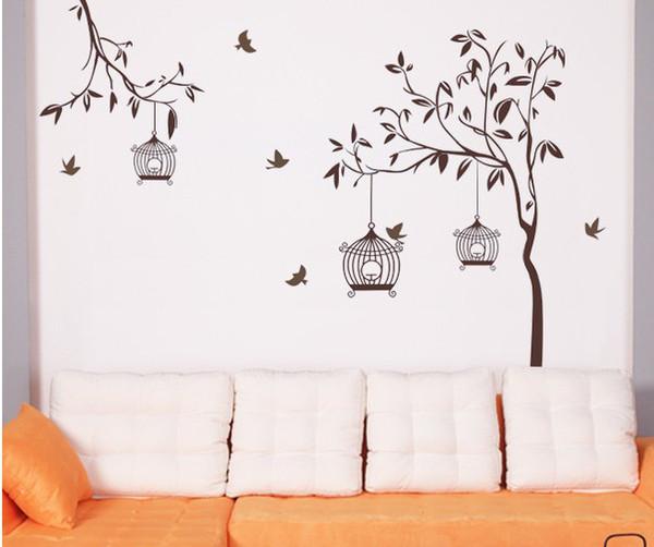 Tre generazioni di adesivi murali seduti lampade di carta sala ...