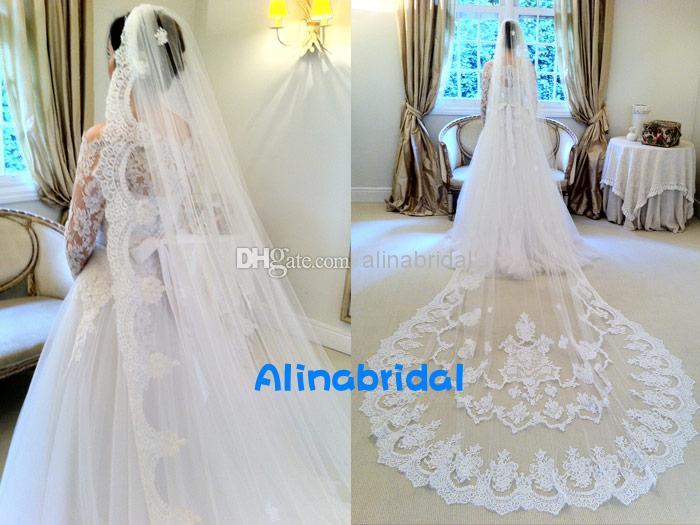 2016 spets bröllopsklänningar utan slöja illusion långärmad en linje kapell tågband vestidos deivas wanda borges inspirerade brudklänningar