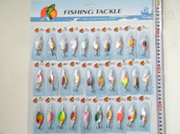 ingrosso confezione assortita-30X Pack (1 set = 30pcs) Vari assortiti Spinners Laser Spoon Bait Fishing Fishing Lures Spinners