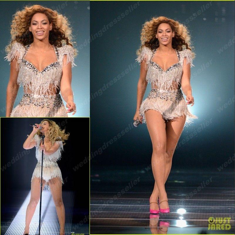 Großhandel Beyonce Kleider Kollektion! Super Sexy Zwei Stücke Perlen ...