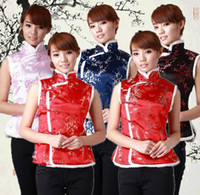 Wholesale Chinese Style Jackets Women - Shanghai Story Ethnic Clothing chinese traditional clothes vests for women  women chinese traditional sleeveless jackets 5 color JYA043