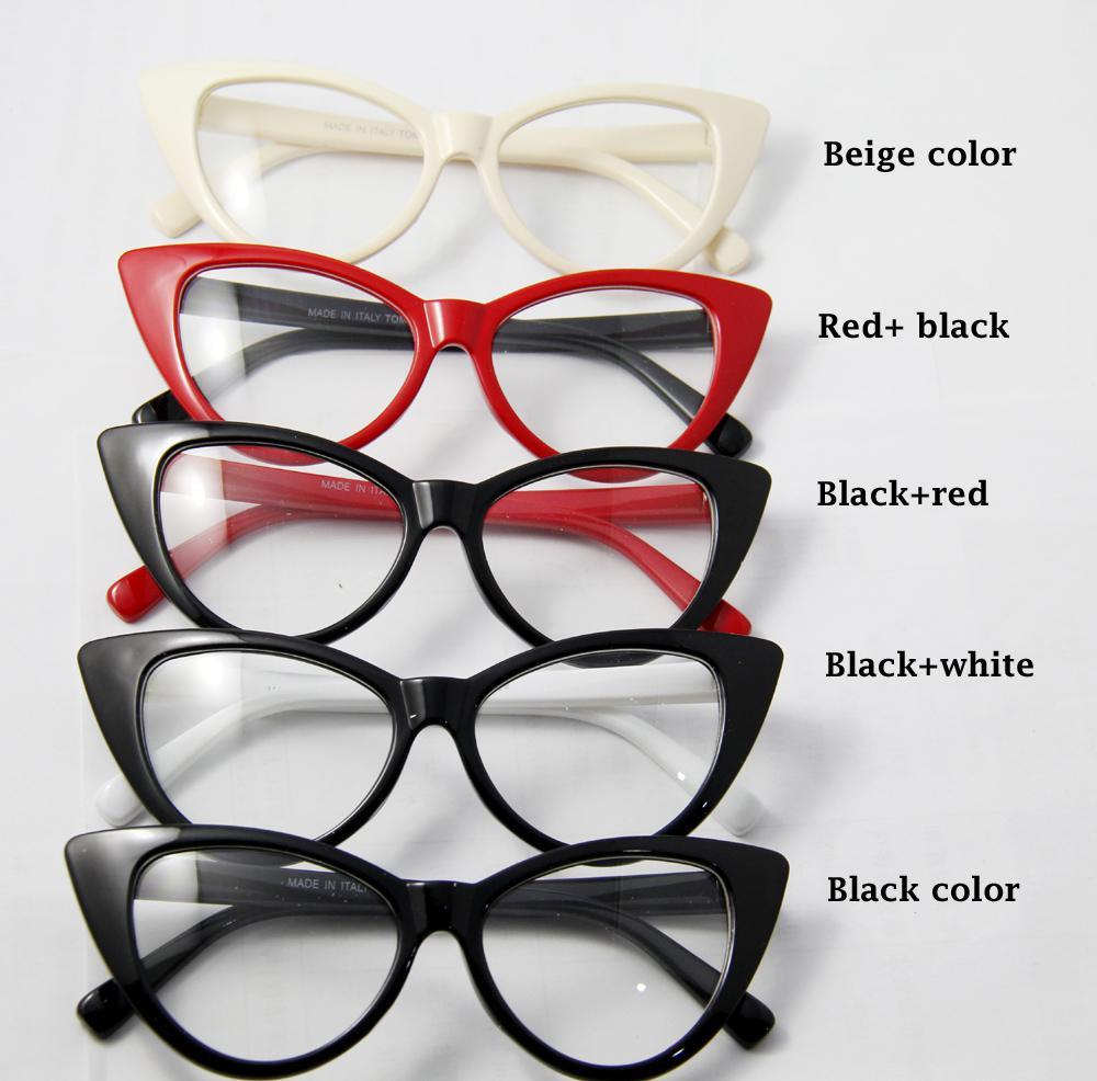 2016 New Arrival Cat Eyes Glasses For Women Wholesale Cat Eyes Full ...
