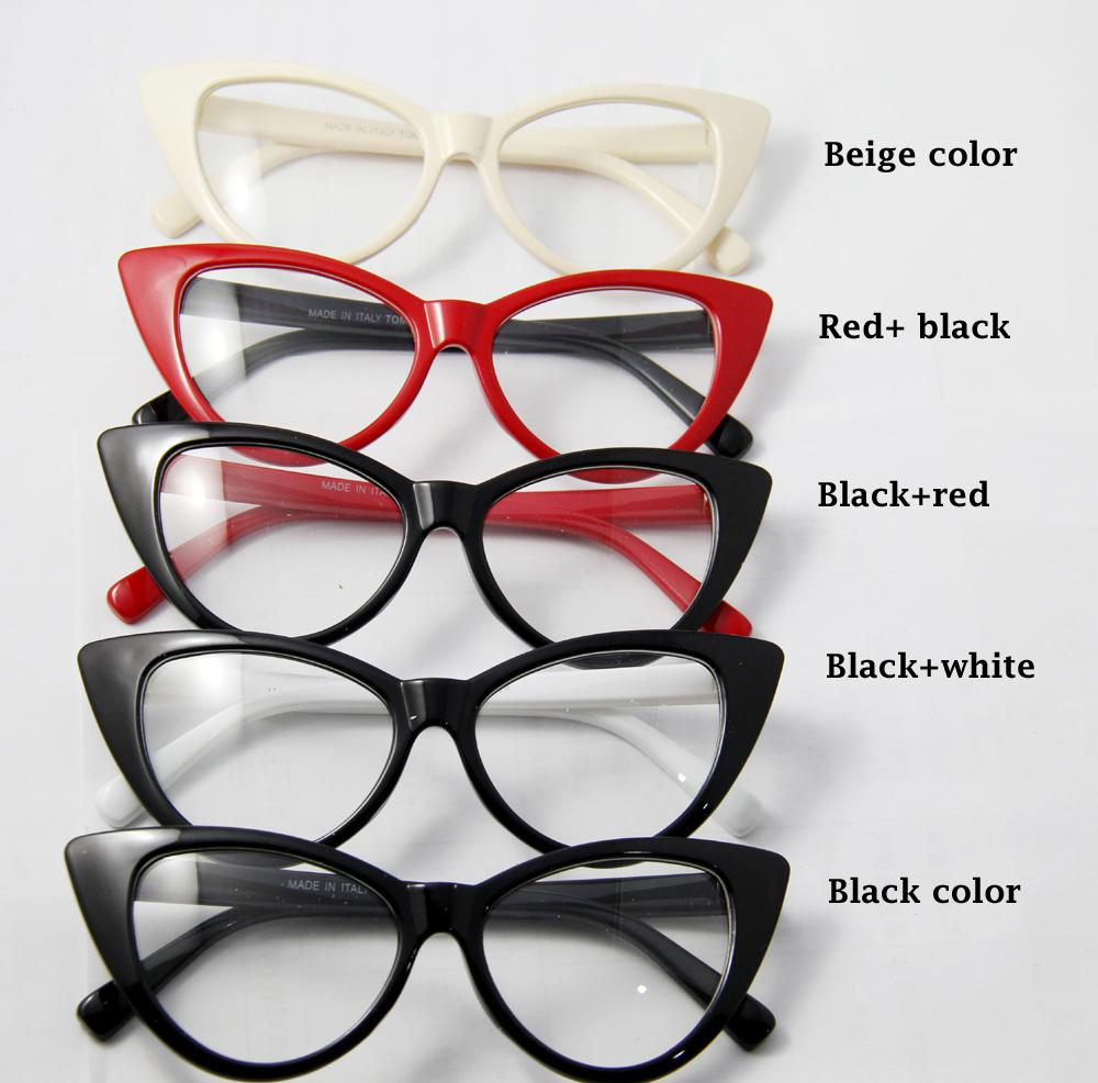 2016 New Arrival Cat Eyes Glasses For Women Wholesale Cat Eyes Full ...