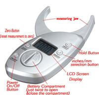 Wholesale body fat analyzer resale online - Digital LCD Body Fat Caliper Analyzer Skin Fold Measurement Thickness Test Personal Body Loss Tester