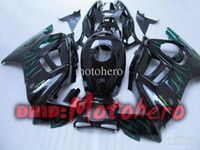 Wholesale 98 F3 - 7gifts- Full Fairing kit for honda CBR600F3 97-98 CBR600 F3 1997 1998 CBR 600 F3 97 98 green flame black