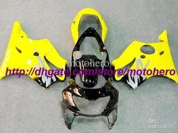 1999 Cbr F4 Fairings Black Canada - 7gifts- 7 Gifts Hi-quality ABS yellow black fairing kit for Honda CBR600 F4 99 00 CBR 600 1999 2000 d4743g