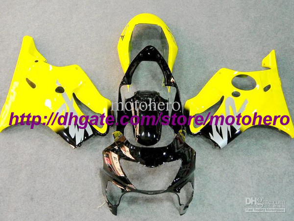 7gifts- 7 Gifts Hi-quality ABS yellow black fairing kit for Honda CBR600 F4 99 00 CBR 600 1999 2000 d4743g
