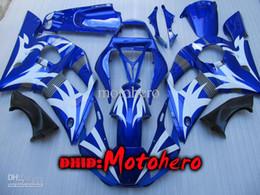 Wholesale 99 Yamaha R6 Fairings - Fairings for YZF R6 1998 1999 2000 2001 2002 yzf600 YZF-R6 YZFR6 98 99 00 01 02 YZFR6 98-02 1998 1999 2000 2001 2002 blue white fairing kit