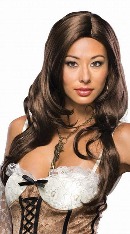 On Sale Dark Brown Brunette Cecilia Hair Wigs Synthetic ...