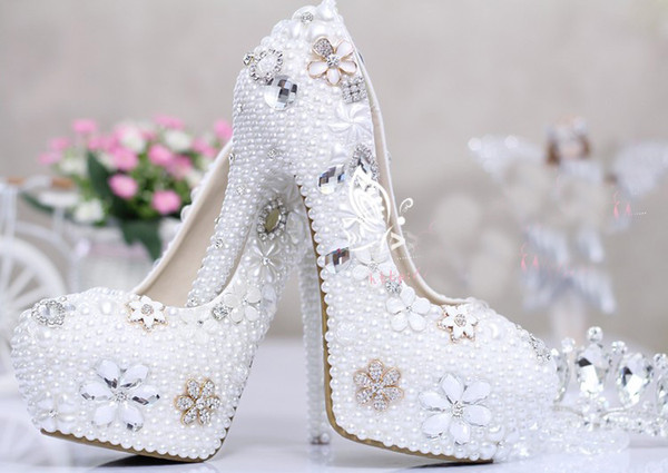 Luxury Crystal Bridal Shoes Sequin Rhineston Colorful Wedding Shoes For Bridal Accessories Prom Pageant Formal Women Shoes 5 Inches
