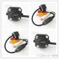 Wholesale Cctv Camera Audio Microphone - Mini Pinhole Hidden Camera CCTV Color Video Audio CMOS with microphone 4 LEDS day night 10 20 30pcs