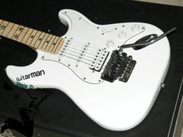 Wholesale Electric Guitar Locking Tremolo - Custom Shop St white Electric Guitar IN with double locking Tremolo