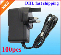 UK uk-uk - AC 100V 240V Converter Wall Adapter DC 12V 9V 5V 1A 2A Power Supply adaptor 100pcs UK GB Plug DHL Fast shipping