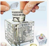 Wholesale Bank Funny - FUNNY MONEY SAVING BANK MONEY MAZE COIN BOX PUZZLE GIFT GAME PRIZE