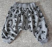 Wholesale Skull Harem Pants Baby - Wholesale Children's pants boys pants children skull Harlan bloomers baby cotton casual trousers 2 color 5p l