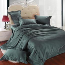 $enCountryForm.capitalKeyWord NZ - Luxury dark green bedding set king size queen duvet cover bed in a bag double sheet linen quilt doona bedsheet bedspread tencel bedlinens