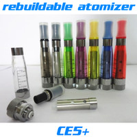 Wholesale E Cig Ce4 Wicks - CE5+ No Wick rebuildable atomizer 1.6ml Colorful Clearomizer CE5+ Cartomizer e cig Atomizer for Electronic Cigarette CE4 CE5 ego battery