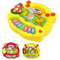 Wholesale Music Piano Animal Farm - S5Q Popular Baby Kid Animal Farm Piano Music Toy Developmental Hot AAACLR