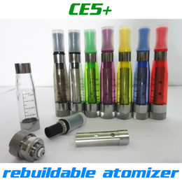 Wholesale Liquid Refills - Top quality CE5+ rebuildable atomizer no wick CE5 Clearomizer refilled e liquid for ego battery Electronic Cigarette CE4 CE5 ego atomizer