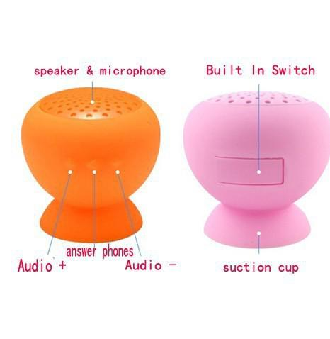 F-Bird Bluetooth Wireless Subwoofers Mushroom Suction Cup With Microphone Speakers Sillicone Sucker Waterproof Mic Voice Box Speaker