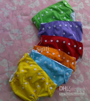 Wholesale Wholesale Cheaper Diaper - 60 Diapers +60 Inserts Cheaper Baby Diapers Plain Color Babyland Cloth Diaper Pockets