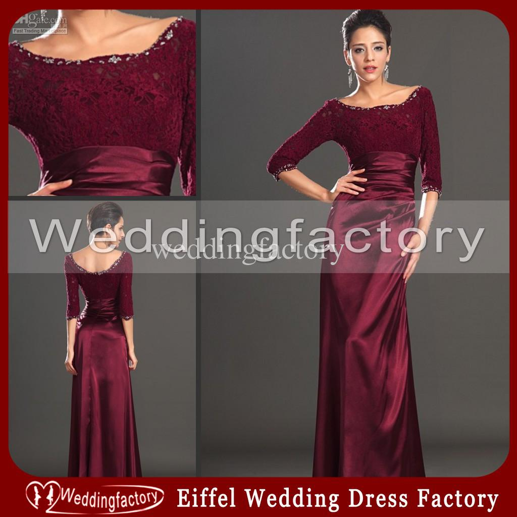 Wedding Gowns Montreal: 2013 Hot Sale Mother Of The Bride Lace Dresses With Long