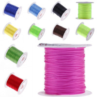 Wholesale Stretchy Bracelet String Wholesale - 0.8mm 10m Elastic Crystal Cord String Beads Stretchy Wire Braided Bracelet DIY Choose ND*10
