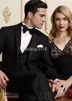 Wholesale Groom Groomsmen Shirts - Wholesale - Groom Tuxedos Best Suit Wedding Groomsman Men Suits (Jacket+Pants+Tie+shirt+vest) AK-0111