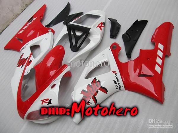Spritzgussverkleidungen für Rot Weiß YZF-R1 98-99 YZFR1 YZF R1 98 99 YZF R 1 YZF 1000 98 99 1998 1999 Verkleidungspaket