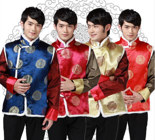 best selling Shanghai Story New Sale Tang suit Ethnic Clothing chinese traditional clothes vests for men chinese traditional jackets 4 color JY072