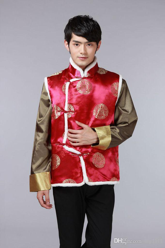 Shanghai Story New Sale Tang suit Ethnic Clothing chinese traditional clothes vests for men chinese traditional jackets JY072