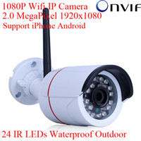 Wholesale H 264 Wifi Outdoor Camera - Onvif H.264 Sony Sensor 2.0 Megapixel 1080P 1920*1080 Resolution Network WIFI IP Camera Outdoor Mini Bullet