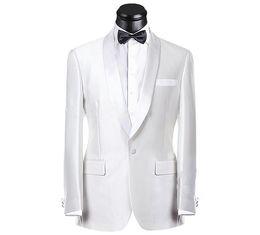 65d1b19f4f Imagen real Novio blanco esmoquin padrinos de boda Traje de hombre mejor  Trajes de boda para hombre Traje de novio (chaqueta + pantalones + faja +  corbata) ...