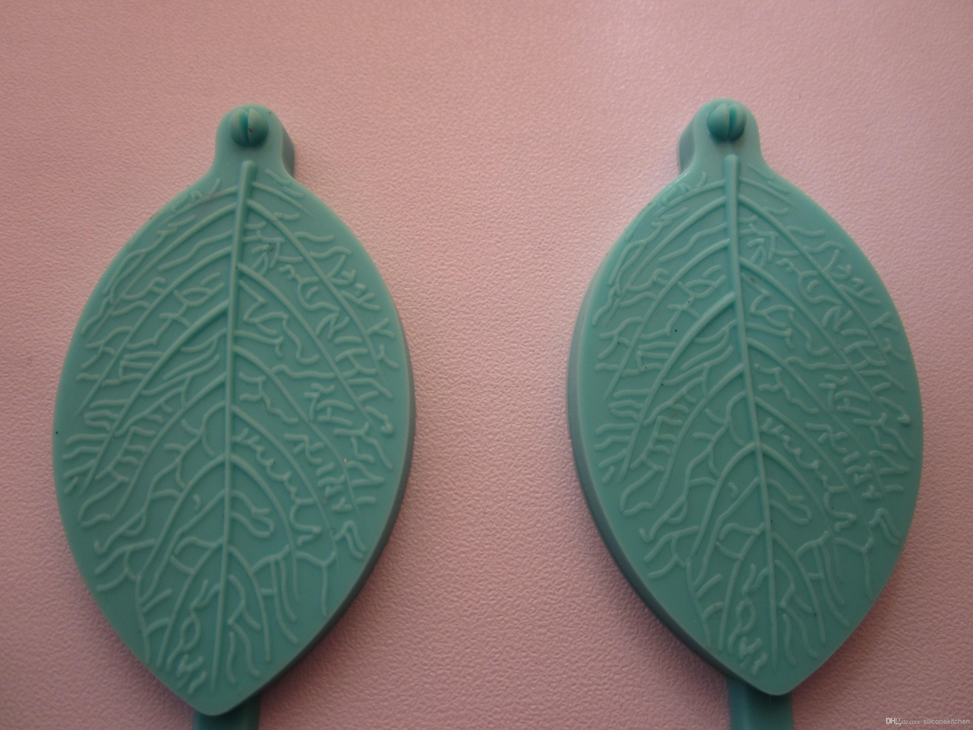 30 unids / lote 100% hojas de silicona molde / fondant molde / cake decorating molde / cake herramientas decorativas + envío gratis