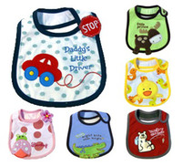 Wholesale Embroidered Burp Cloths - Mom's care 2014 Retail Baby Bibs Pinafore Infant Burp Cloth Waterproof Newborn Saliva Towel Spit Embroidered UN1