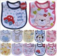 venta de toallas de bebé al por mayor-Venta caliente Más Barato Bebé Babero Delantal 3 Capas Impermeable Babero Eructo Paño Saliva Toallas de Calidad Superior UN1
