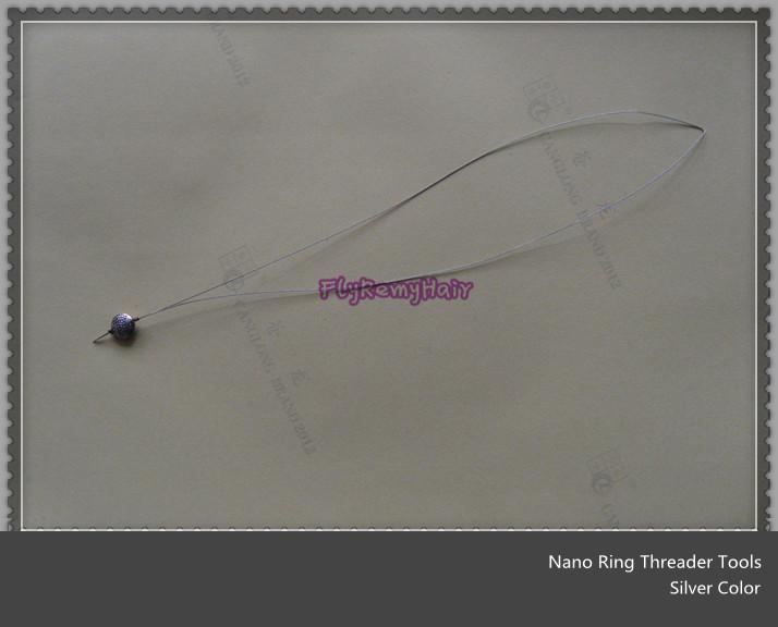 Trekhaak Naalden 120Units Nano Ring Draad voor Nano Tip Haar Simple Hair Extension Loop Toepassing Nano Ring Tools